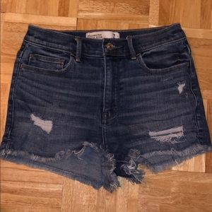 Abercrombie High Rise Denim Shorts